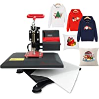 "9"" X 12"" Heat Press Printing Swing Away Transfer Sublimation Heat Press Machine for T-Shirt Teflon Sheet Included Bosstop"