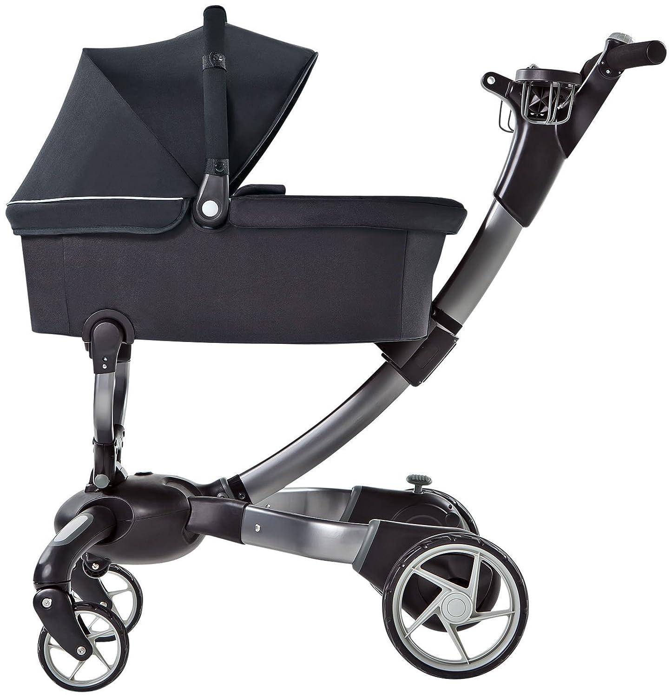 Amazon.com : 4moms Origami Bassinet, Black/ Silver : Baby Stroller ...