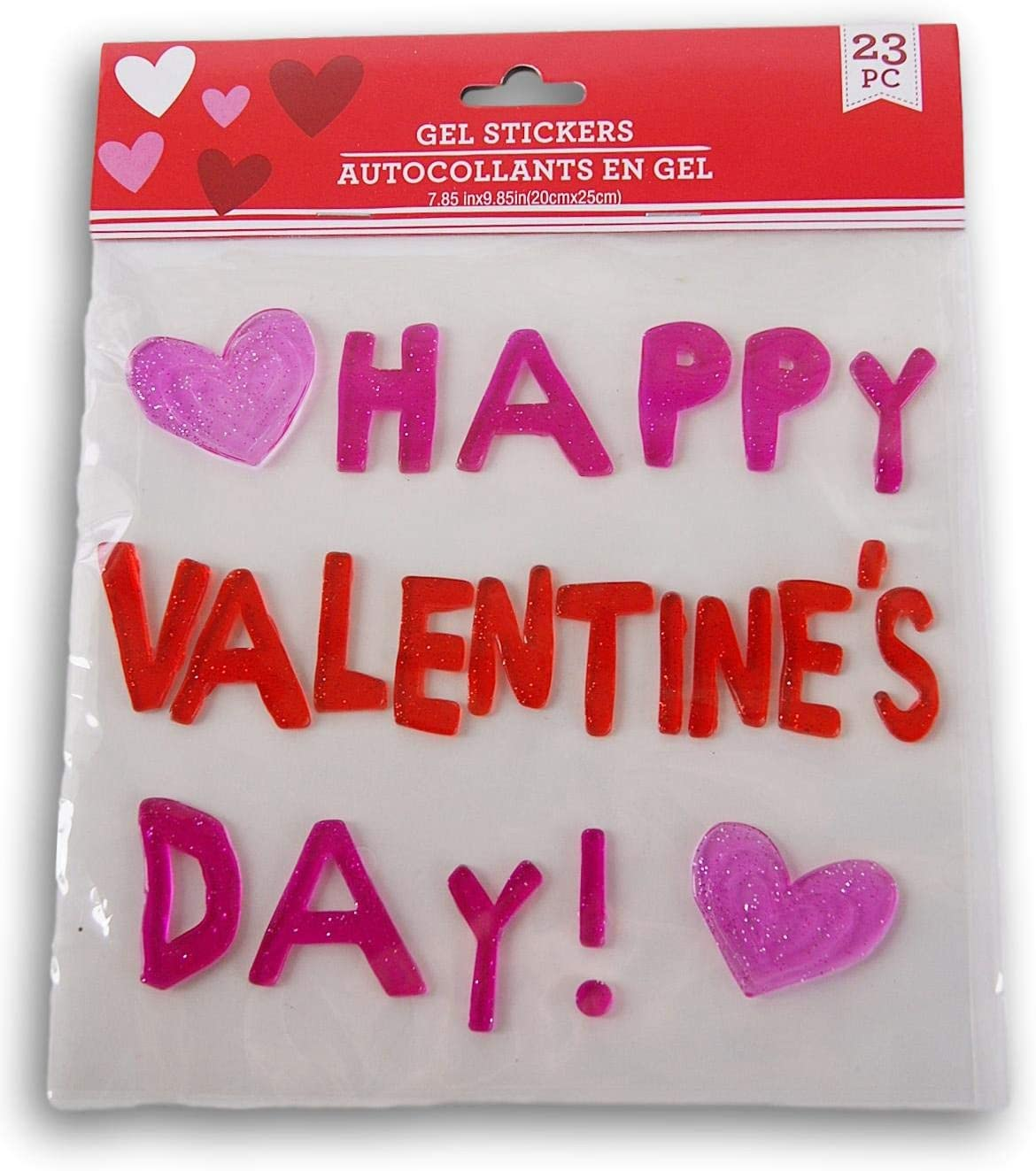 Happy Valentine/'s Day Window Gel Clings Teacher Supply classroom Decorations