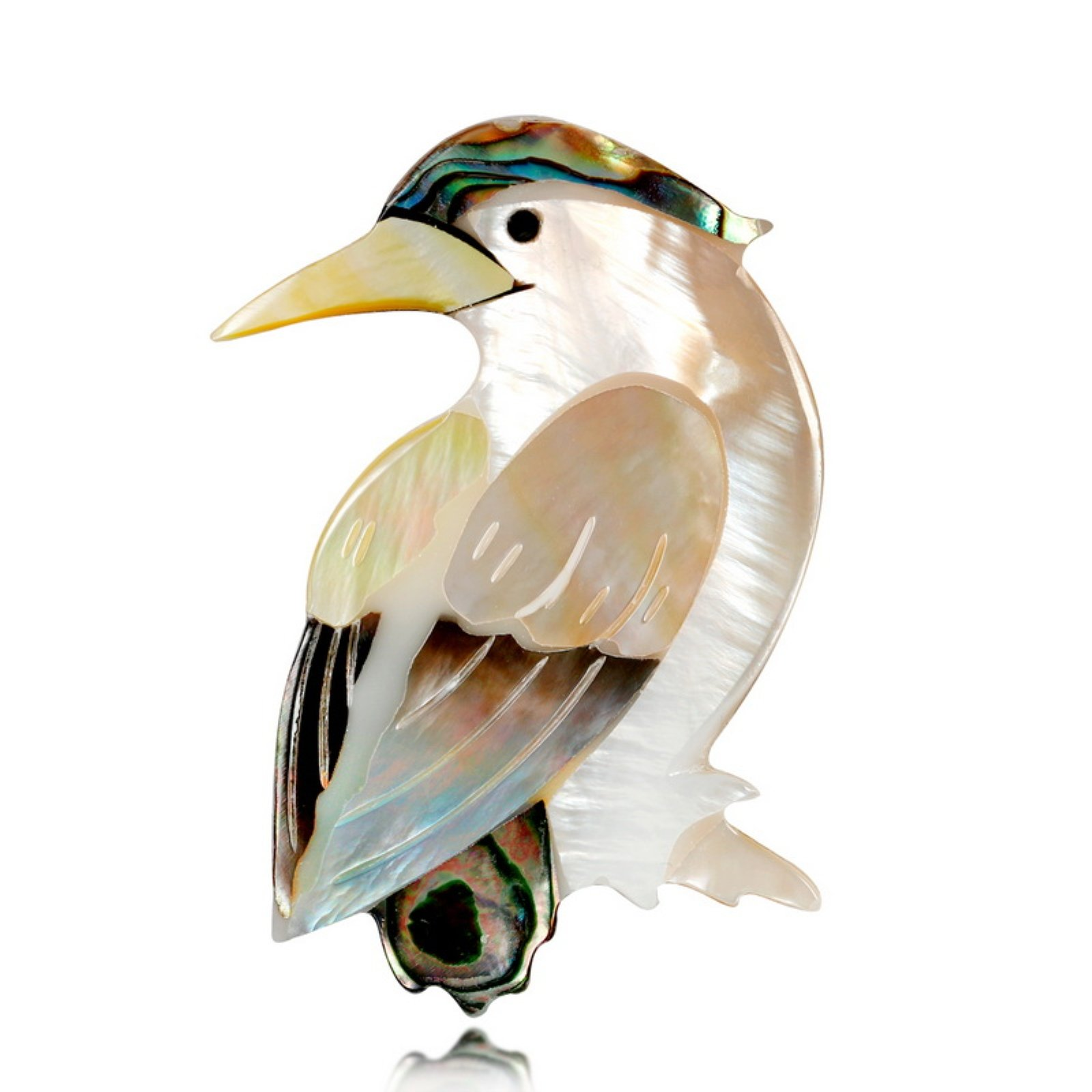 ptk12 Vintage Animal Bijouterie Brooch Pins Badges Jewelry Shell Brooch Bird For Scarf Small by ptk12