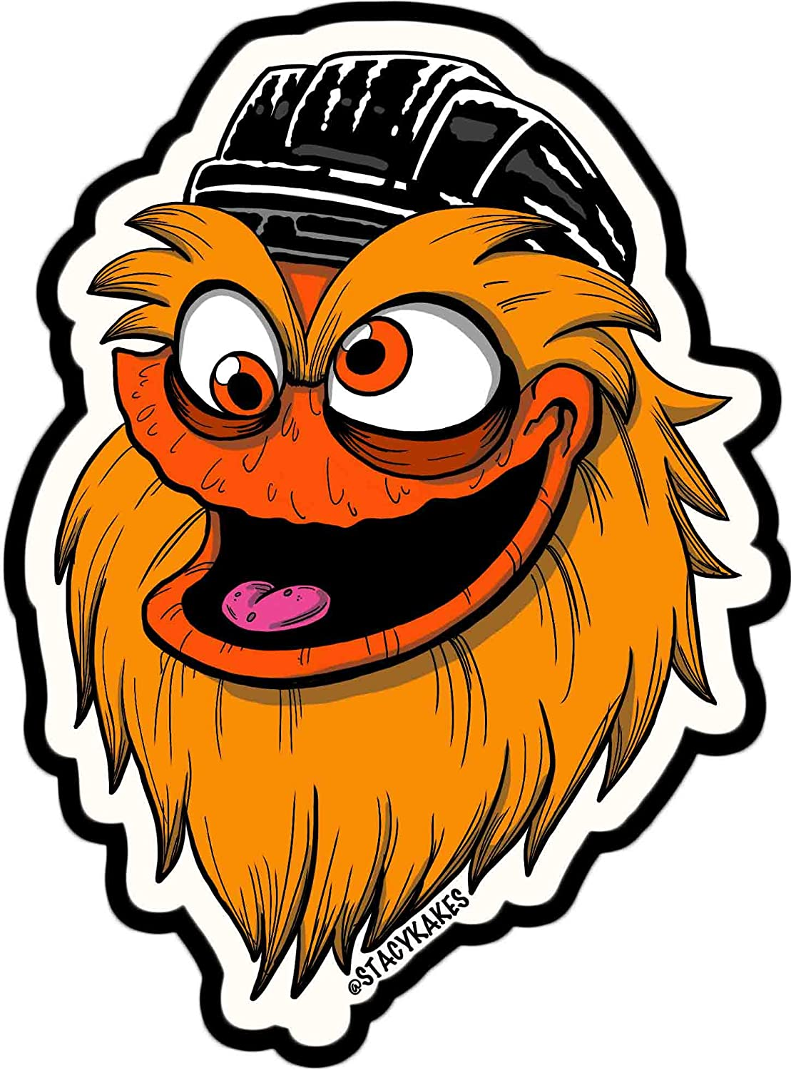Gritty Philadelphia Decal - for Cars, Laptops, and More! - Use Inside or Outside - Sticks to Any Flat Smooth Surface