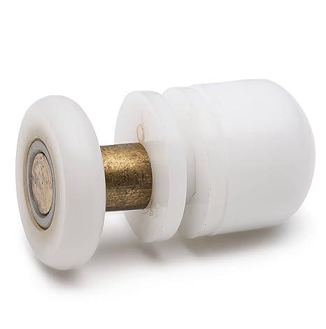 8 x rodillos de ducha/guías de/ruedas/con dientes recto para barra