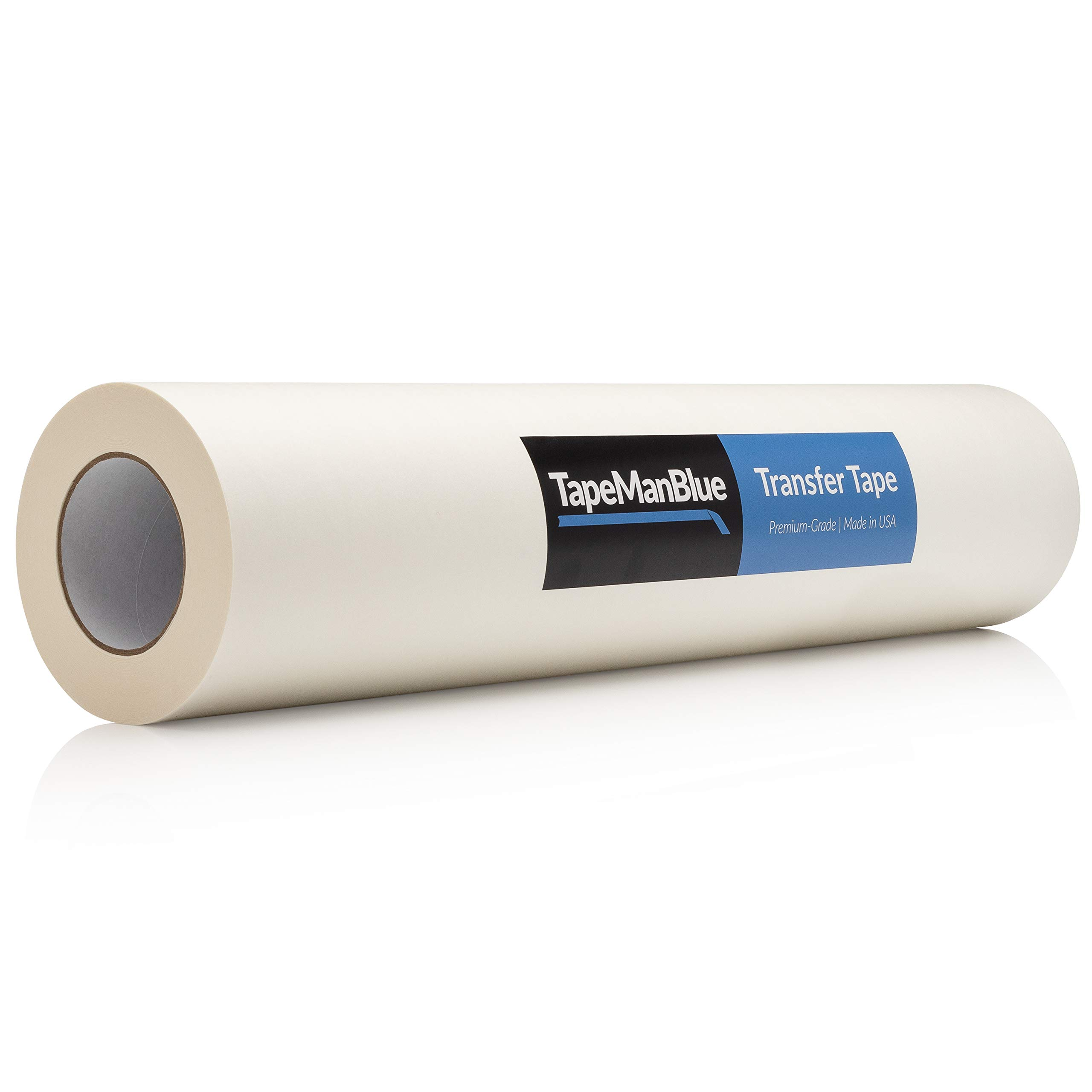 24 inch x 100 Yard Roll of Vinyl Transfer Tape Paper with Layflat Adhesive. Premium-Grade Application Tape for Vinyl Graphics and Sign Making. Made in The USA by TapeManBlue (Image #1)