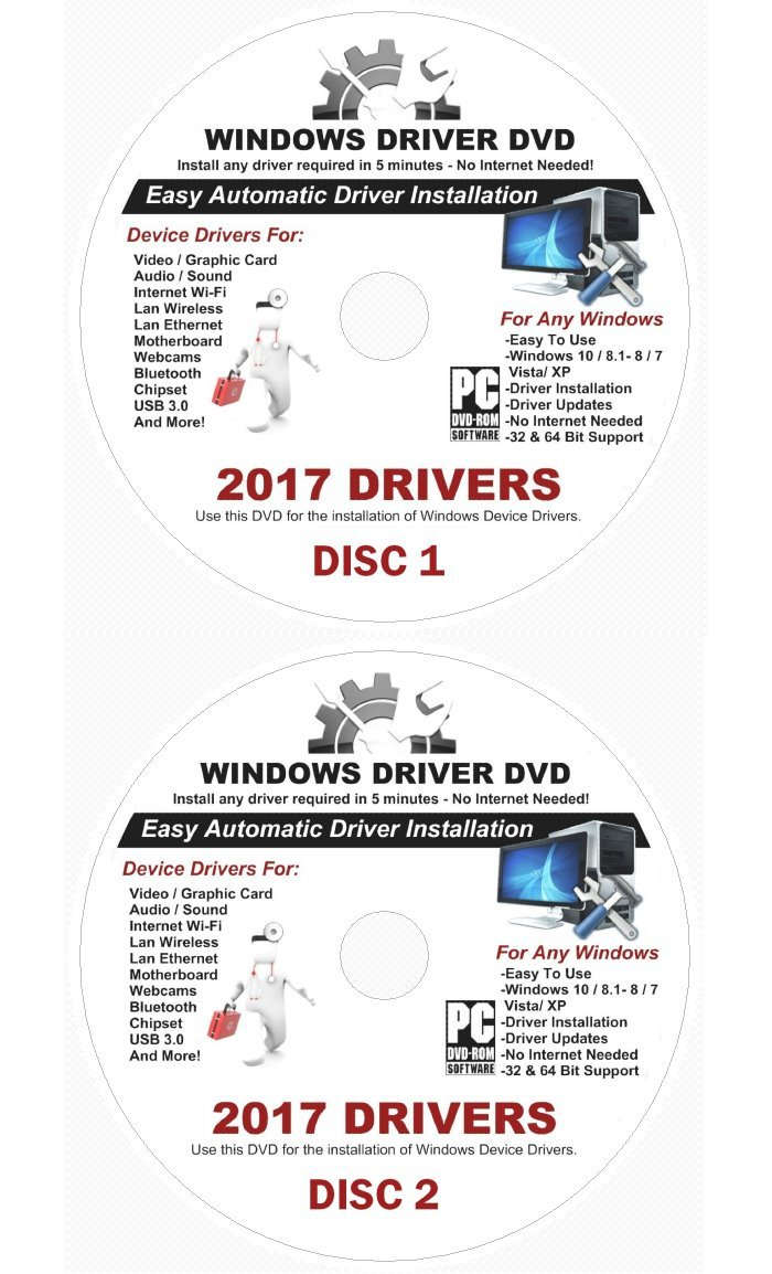 Amazon com: 2017 Automatic Driver Recovery [Disc 1 & Disc 2] Restore