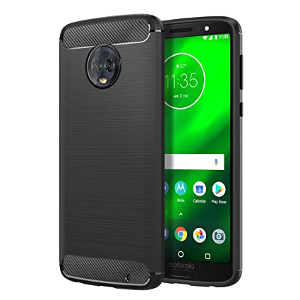 super popular 104ec 41ff9 CASE U Tough Armour Back Cover for Moto G6 Plus (Black)