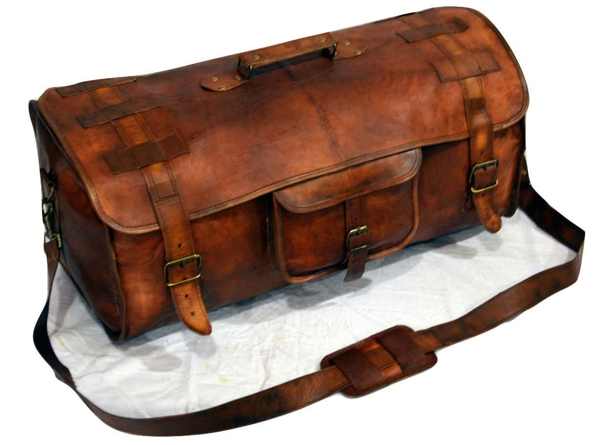 Urban Dezire Leather Duffel Travel Gym Overnight Weekend Leather Bag Sports Cabin by Urban Dezire (Image #1)