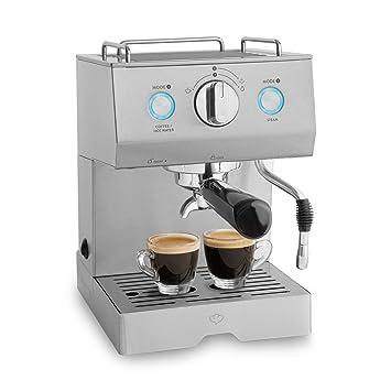 Cafetera Expreso de Acero Emilia | 1140 W, 15 Bares, 1,5 L