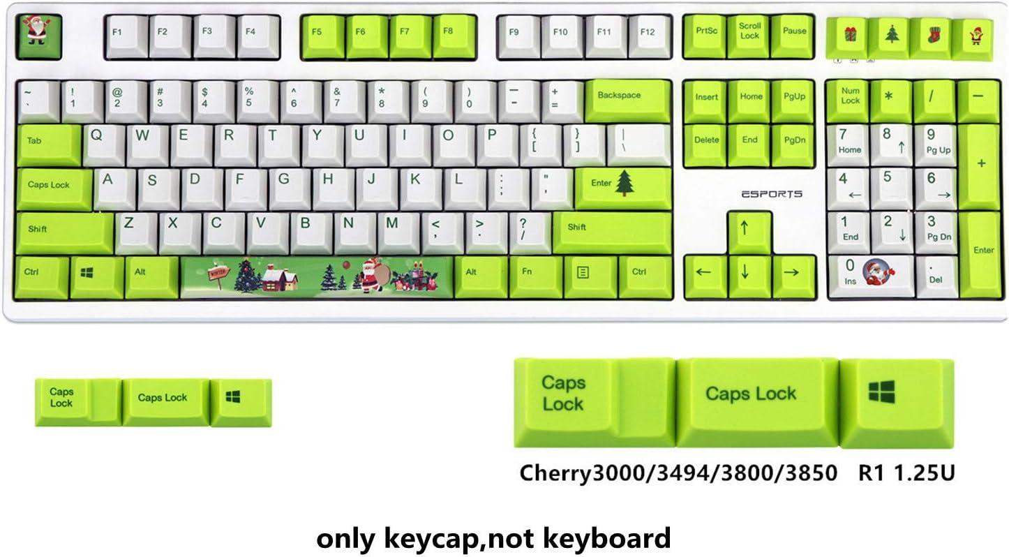 127 Keys 108//127 Keys Christmas OEM Profile Dye Sublimation PBT Keycaps for Cherry RGB MX Mechanical Keyboard Gaming Replace