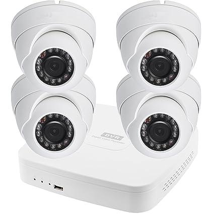 HDCVI Videovigilancia Juego 4 Canal Vigilancia DVR 4 Cámaras Juego completo HDC de R01 de KP2