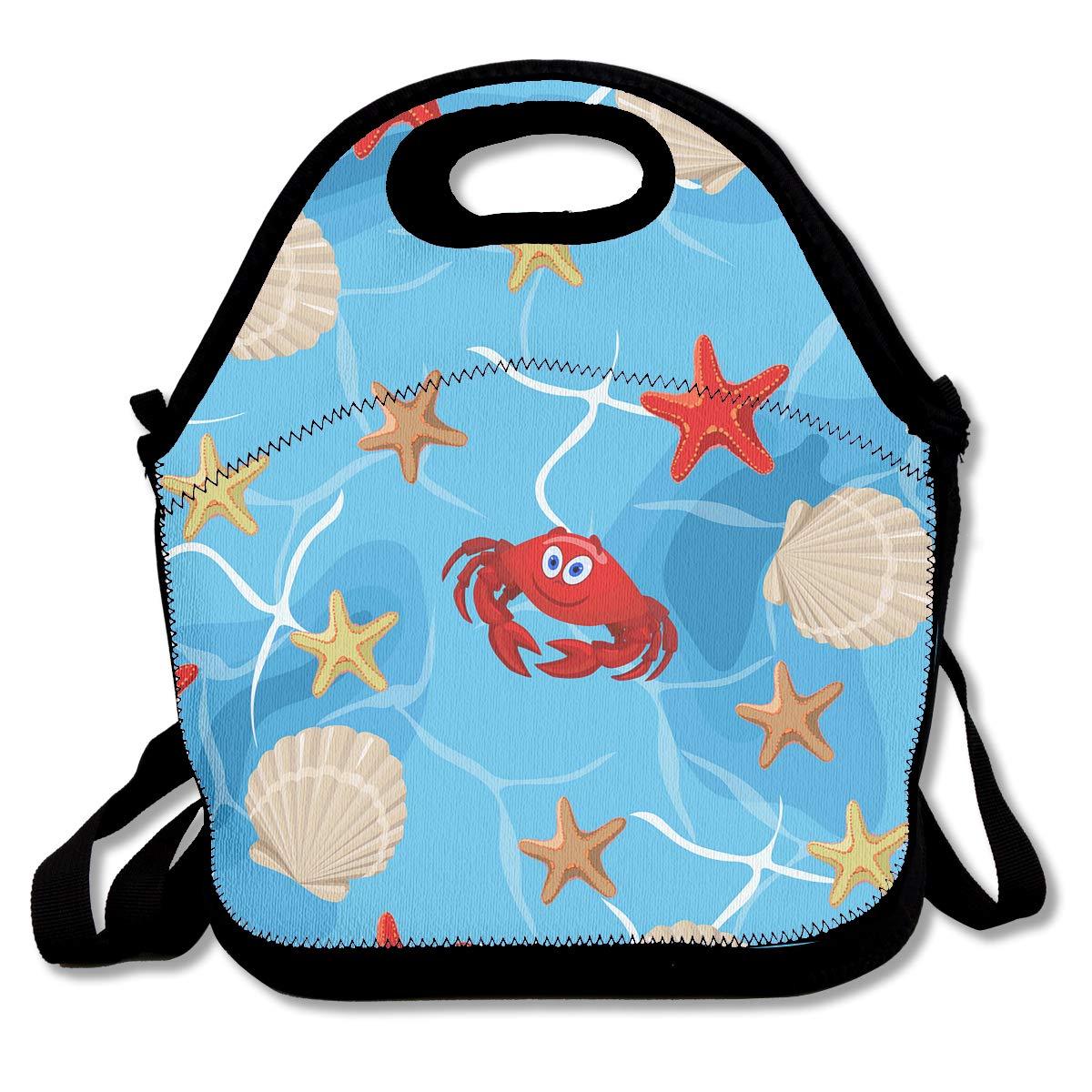 e3e132efa903 Amazon.com: Crabs on the Sea Bottom Lunch Bag Lunch Organizer Tote ...