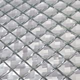 Diflart Mirror Glass Mosaic Tile Crystal Diamond