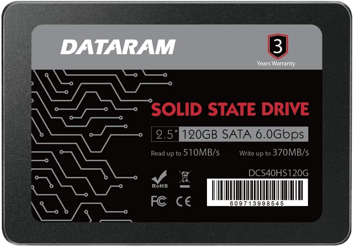 "DATARAM 120GB 2.5"" SSD Drive Solid State Drive Compatible with MSI Z270-A PRO [並行輸入品]"