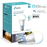 TP-Link Smart LED Light Bulb, Wi-Fi, Dimmable, Tuneable White, 60W Equivalent, Works with Amazon Alexa and Google Assistant, 1-Pack (LB120)