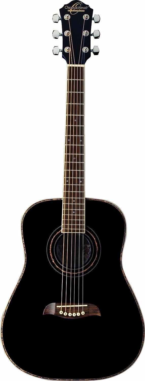 Oscar Schmidt OGHSB-A-U 1/2 Size Dreadnought Acoustic Guitar (High Gloss Black)