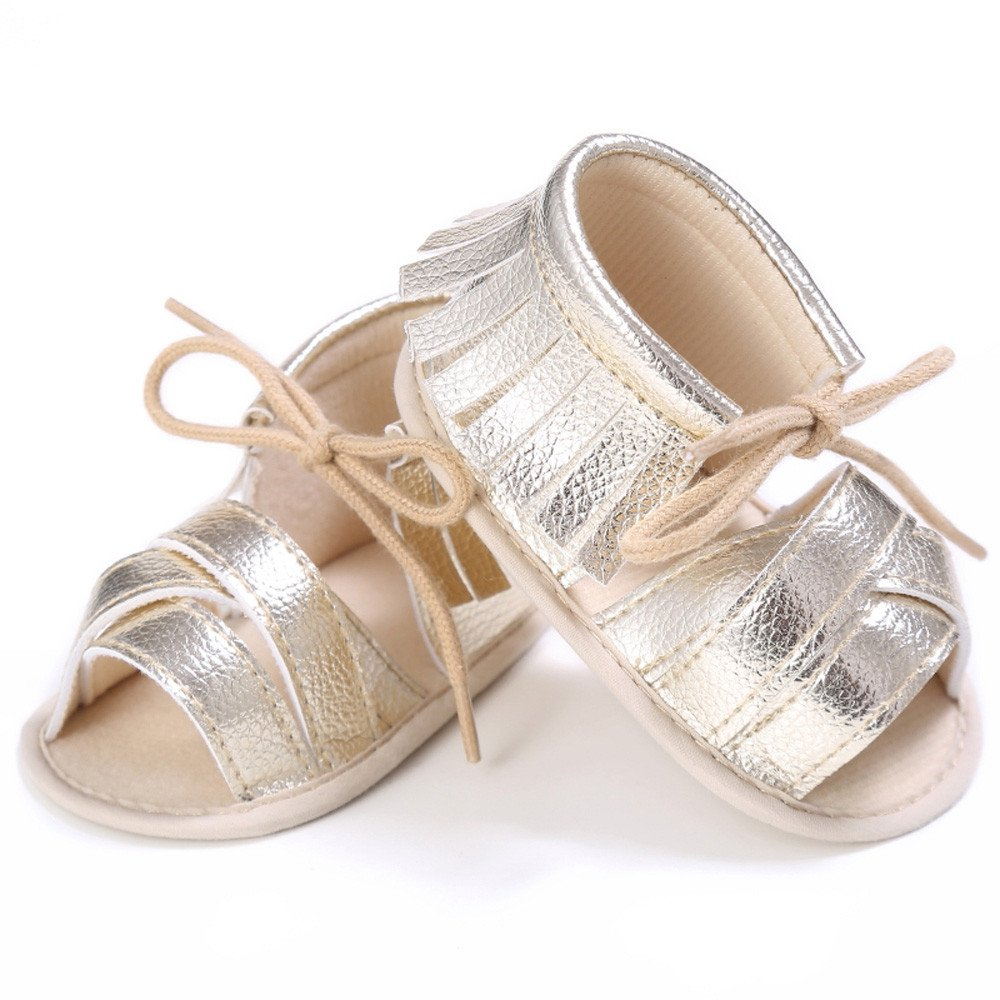 Newborn Girls Boys Crib Shoes Soft Sole Anti-Slip Baby Sneakers Tassel Sandals GridNN 2019 Slipper