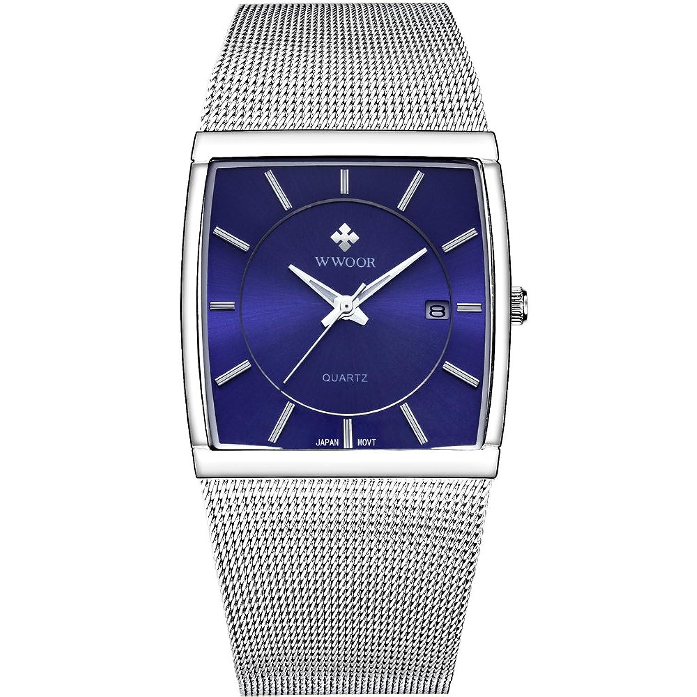 Quartz Watches Nice Fashion Luxury Quartz Sport Military Stainless Steel Dial Mesh Belt Wrist Watch Luxury Dress Watch Fashion Men Sport Gift Clock Firm In Structure Watches