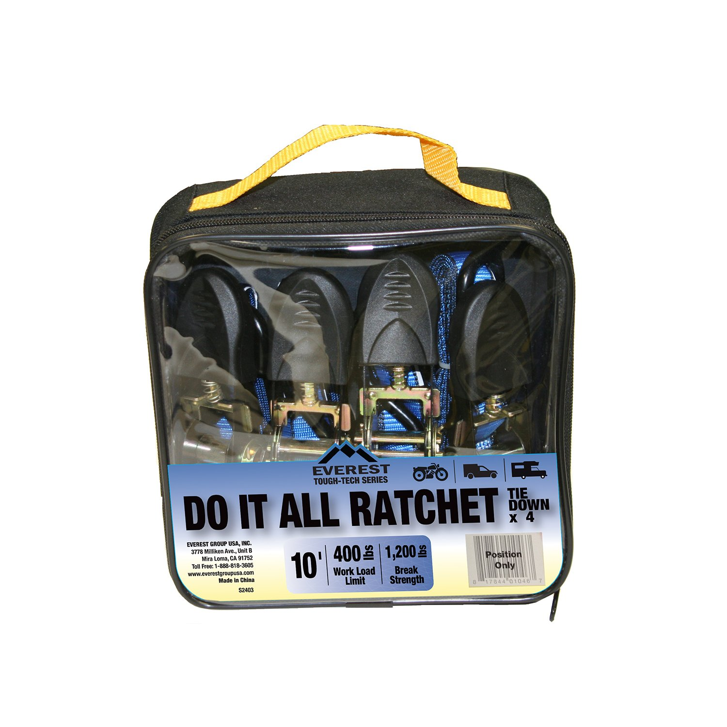 4 Pack Everest S41103-B Tie Down Down