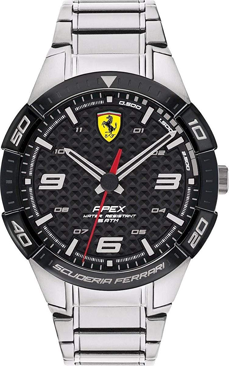 Scuderia Ferrari Reloj Analógico para Hombre de Cuarzo con Correa en Acero Inoxidable 830641