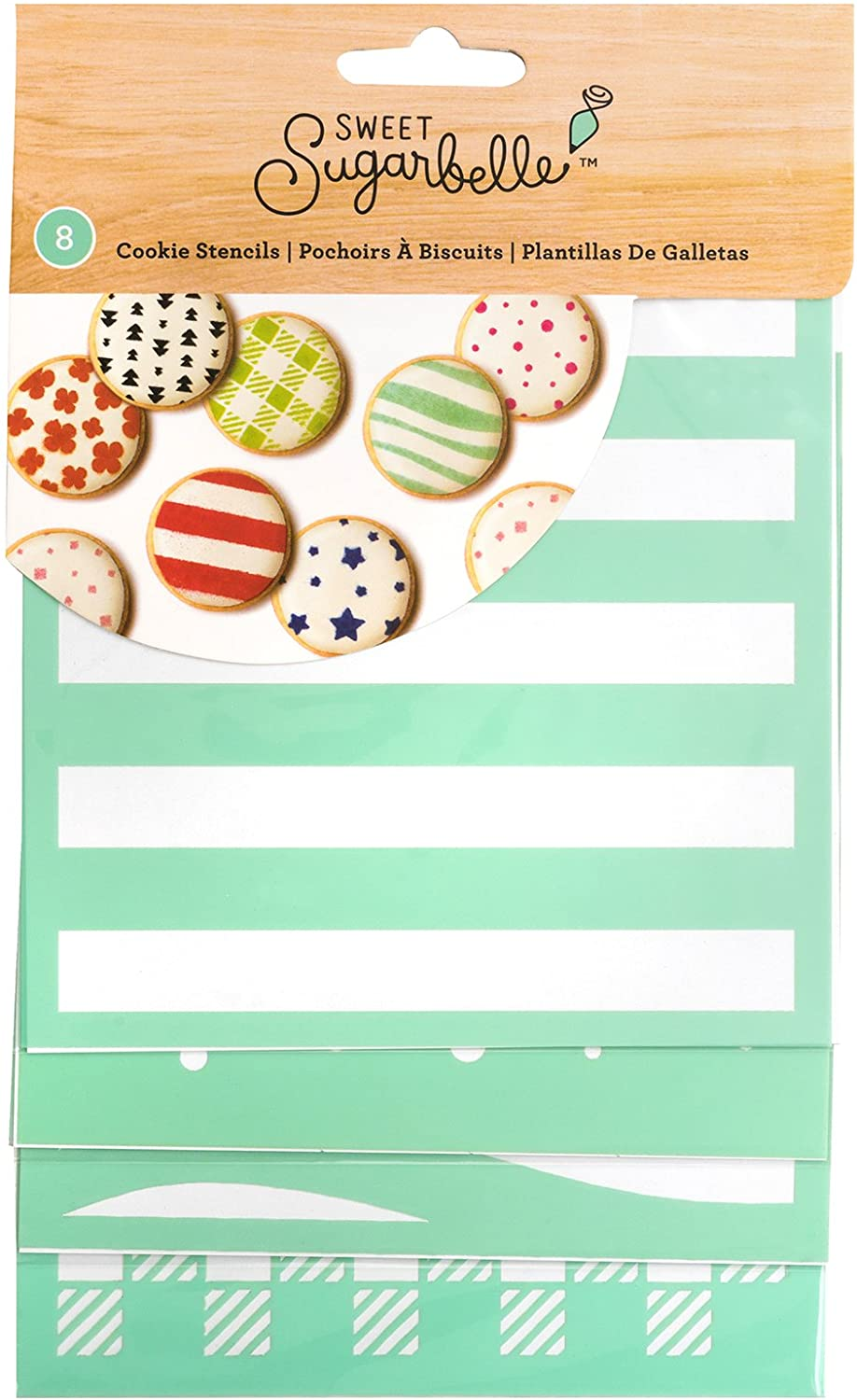 Sweet Sugarbelle 8 Piece 5 x 5 Inch Square Stencil Cookie Supplies