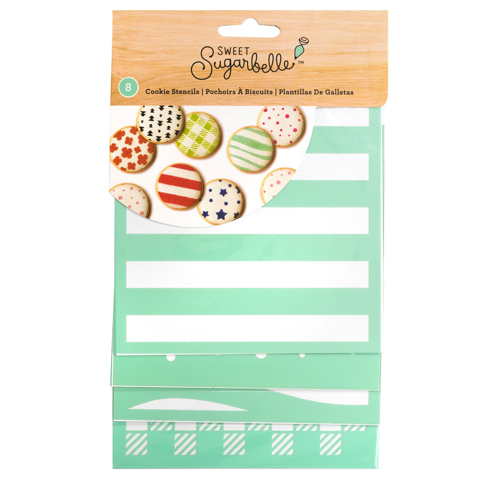 Sweet Sugarbelle 8 Piece 5 x 5 Inch Square Stencil Cookie Supplies by Sweet Sugarbelle