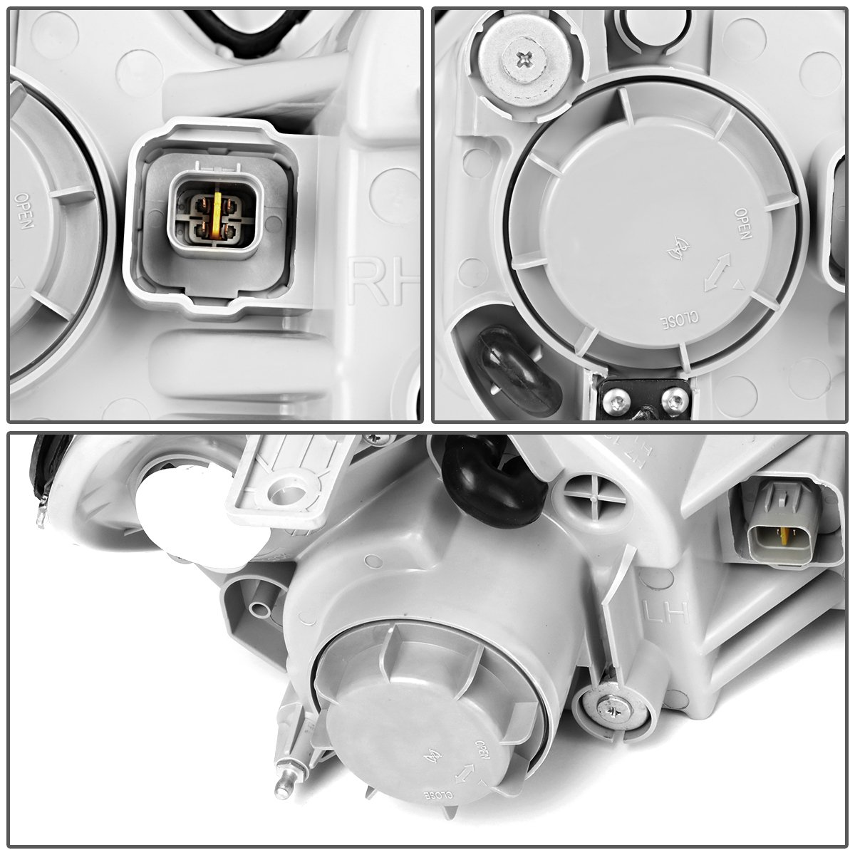 For 02-05 Sonata DNA Motoring HL-OH-054-CH-CL1 Chrome//Clear Projector Headlight