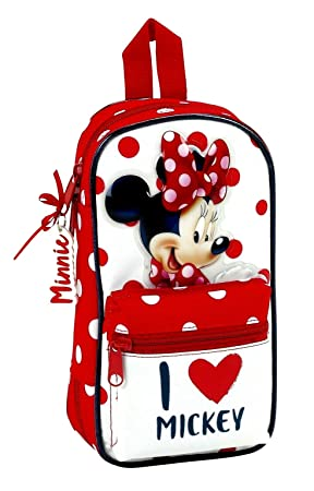 Minnie Mouse Estuches, 23 cm, Rojo y Blanco: Amazon.es ...