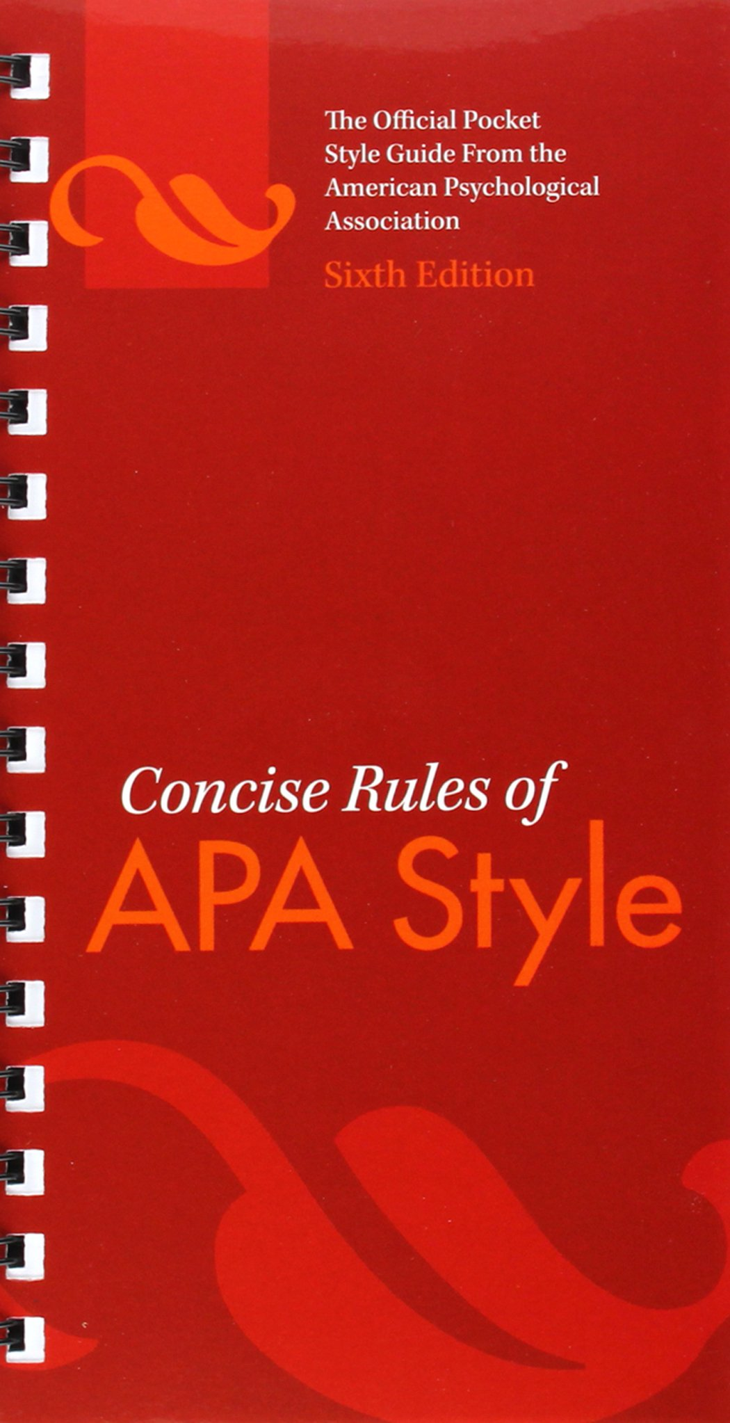 Concise Rules of APA Style by Brand: American Psychological Association