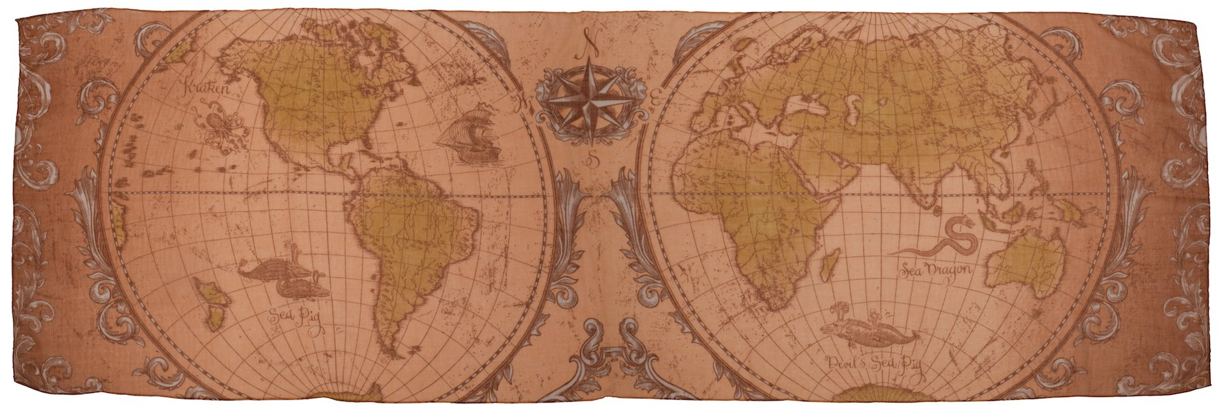elope Olde World Map Lightweight Scarf for Women by elope (Image #2)