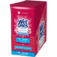Wet Ones Antibacterial Hand Wipes, 20 Count ( Pack Of 10)
