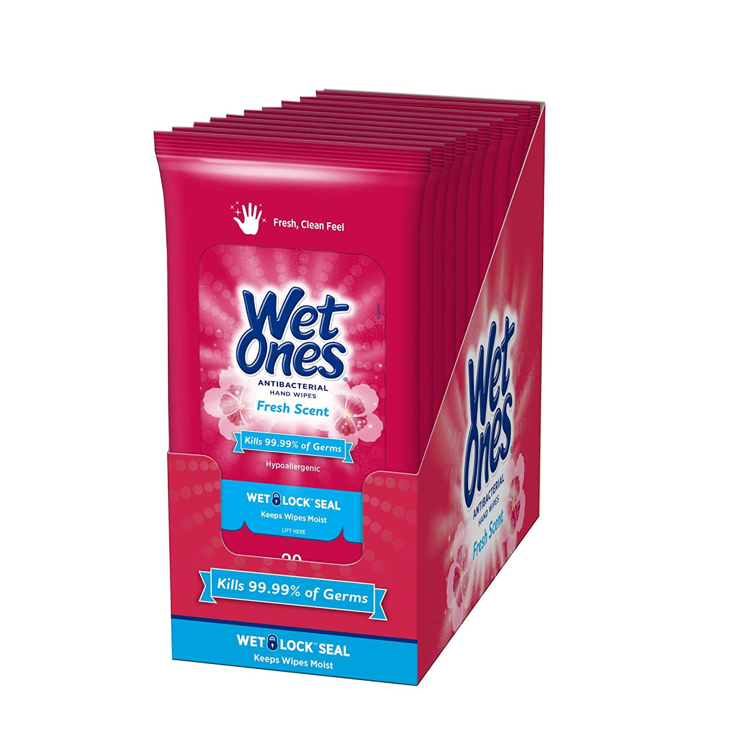 6 Packs - 60 Wipes Wet Wipes Travel Size