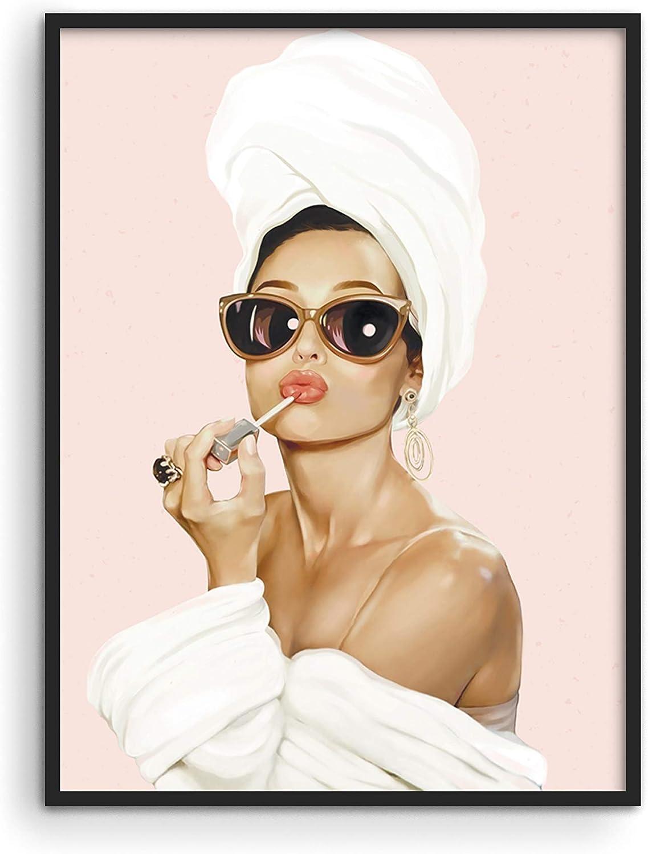 Audrey Hepburn Wall Art Vogue Wall Decor - by Haus and Hues | Audrey Hepburn Poster Hollywood Wall Art | Audrey Hepburn Pictures for Wall | Vanity Room Wall Art (12