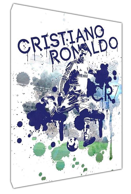 CR7 Ronaldo - Lienzo decorativo con marco de madera, diseño de ...