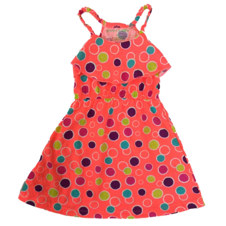 6d6ae1d03bd9 Amazon.com  Peanut   Ollie Infant   Toddler Girls Orange Polka Dot ...