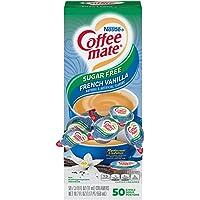 Nestle Coffee mate Coffee Creamer, Sugar Free French Vanilla, Liquid Creamer Singles, Box of 100 Singles