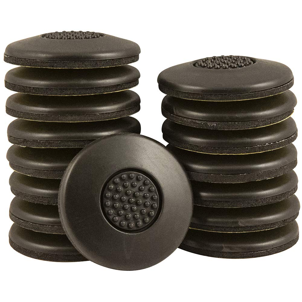 SoftTouch 4118595N Self-Stick Round Value Pack Non Slip Furniture Grippers Heavy Duty, 1-1/2 Inch, Brown