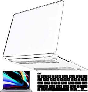 iPAPA Compatible with MacBook Pro 13 Inch Case 2020 2019 2018 2017 2016 A2338 M1 A2251 A2289 A2159 A1989 A1706 A1708, Clear Plastic Hard Cover + Keyboard Cover + Screen Skin,MacBook Pro Case Touch Bar