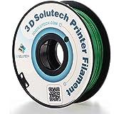 3D Solutech Real Green 3D Printer PLA Filament 1.75MM Filament Dimensional Accuracy +/- 0.03 mm 2.2 LBS (1.0KG) - 100% USA