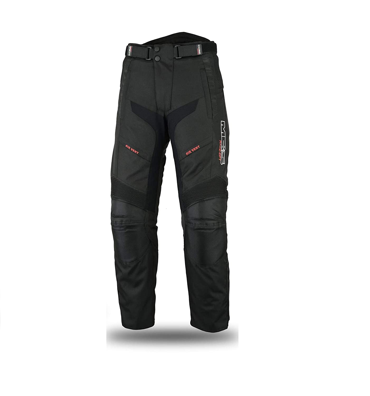 MBSmoto LP24Roader da moto scooter Cruiser Touring impermeabile antivento pantaloni Cordura da donna in tessuto nero
