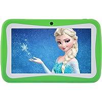 Niños Tablet Android 7.1, 7 pulgadas, pantalla HD, Quad Core, tableta para niños, 1 GB de RAM + 8 GB ROM, con conexión WiFi, cámara dual, Bluetooth, educativo, modelo de pantalla táctil para niños, control parental