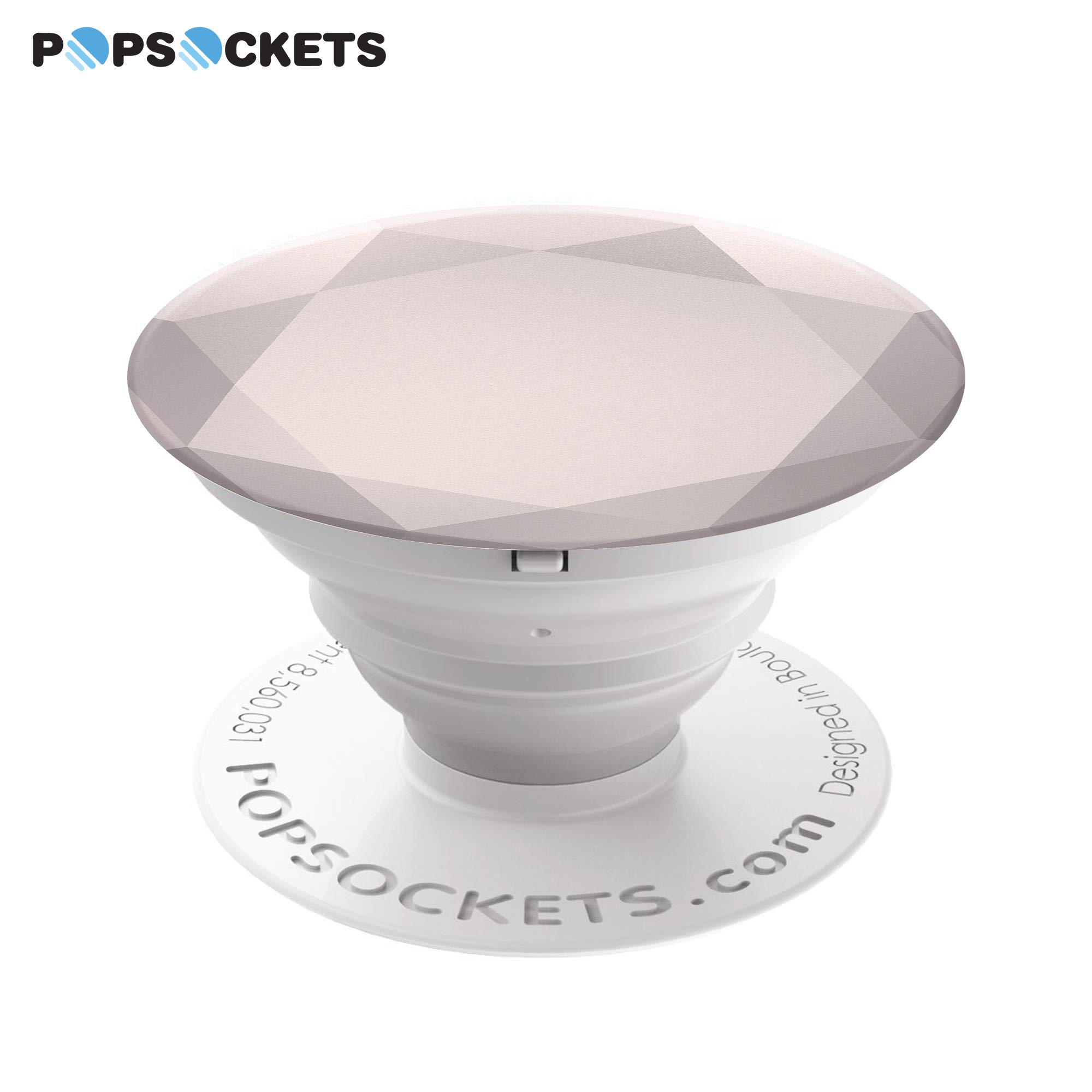 PopSockets: Collapsible Grip & Stand for Phones and Tablets - Rose Gold Metallic Diamond