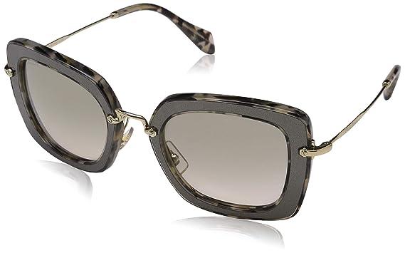 12753c46d Miu Miu MU07OS DHE-3H2 Silver / Print Noir Square Sunglasses Lens ...