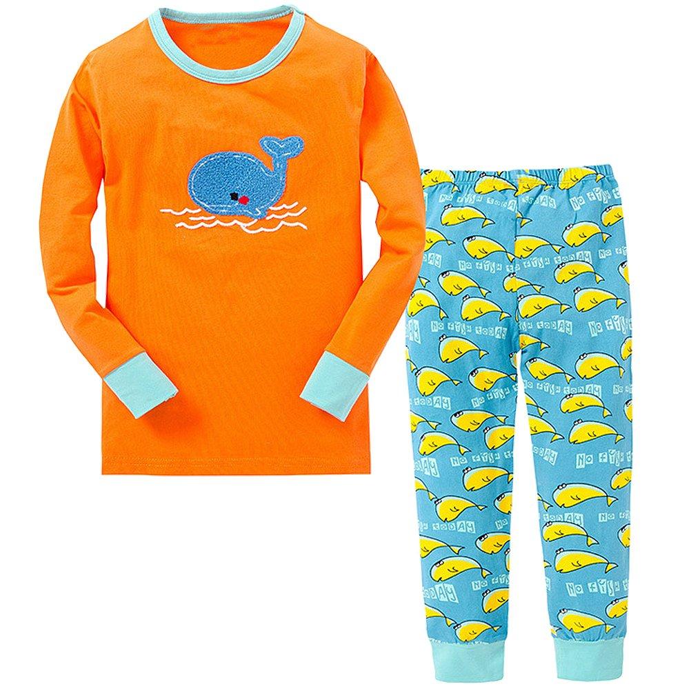 絶妙なデザイン blcswan Little Boy Girl Boy Whale 2ピースSnug Fit Cotton B018O9EEEQ Cotton PJs ( 12 m-7years ) 5Y-6Years B018O9EEEQ, 知名町:eb9070d1 --- a0267596.xsph.ru