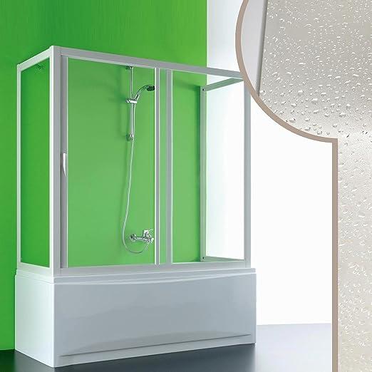 Forte Mampara de bañera 3 Lados 70x140x70 CM in Acrílico Mod. Plutone con Apertura Lateral: Amazon.es: Hogar