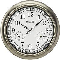 La Crosse Technology WT-3181P Metal Clock, 18 Inch, Pewter