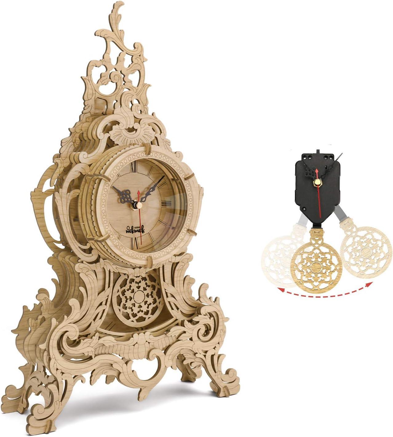 nicknack 3D Reloj de péndulo de Rompecabezas, Kits de Modelos con Corte láser, Modelos Construcción 3D Puzzle Kit para Adultos y Adolescentes