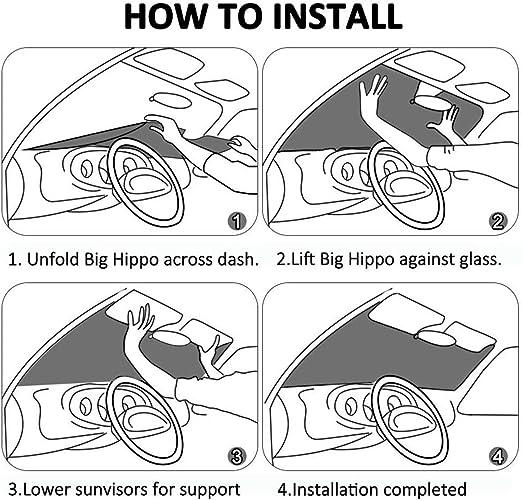 Car Universal Car Sunshades Shield Protector de Cubierta con 4 ventosas 28x50 Pulgadas GFHTH Hulk Movie Windshield Sun Shades Blocks Rayos UV Sun Plegable Visor
