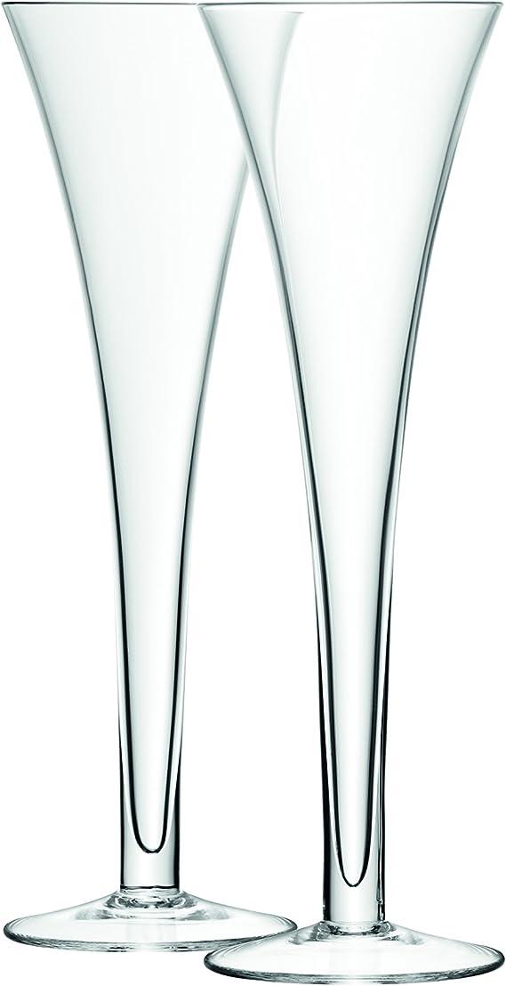 LSA International G302-07-991 Bar Hollow Stem Flute 6.7 fl oz Clear x 2