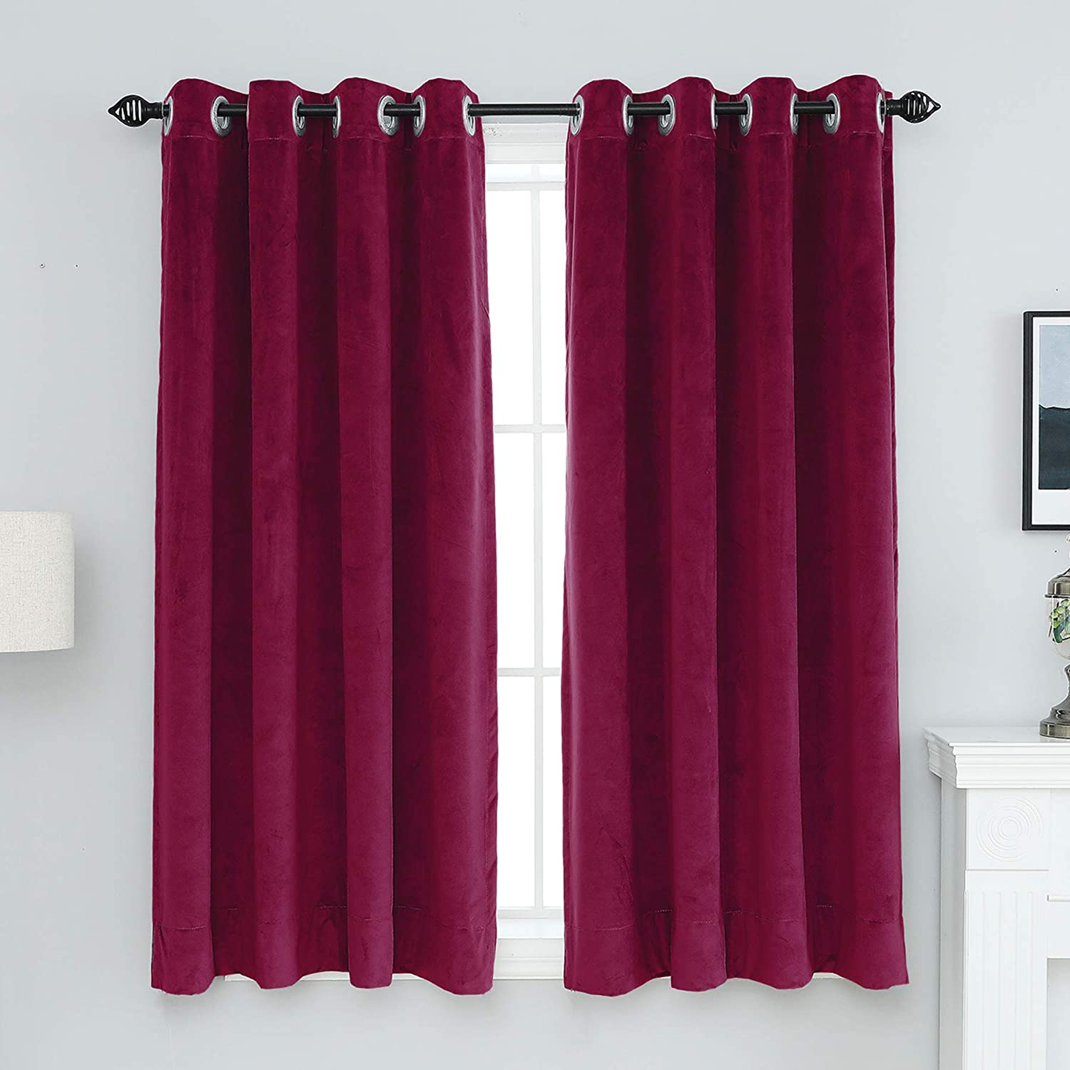 XIANYU 52x84-Inch Velvet Blackout Grommet Panels Curtain Window Ranking Limited time trial price TOP6