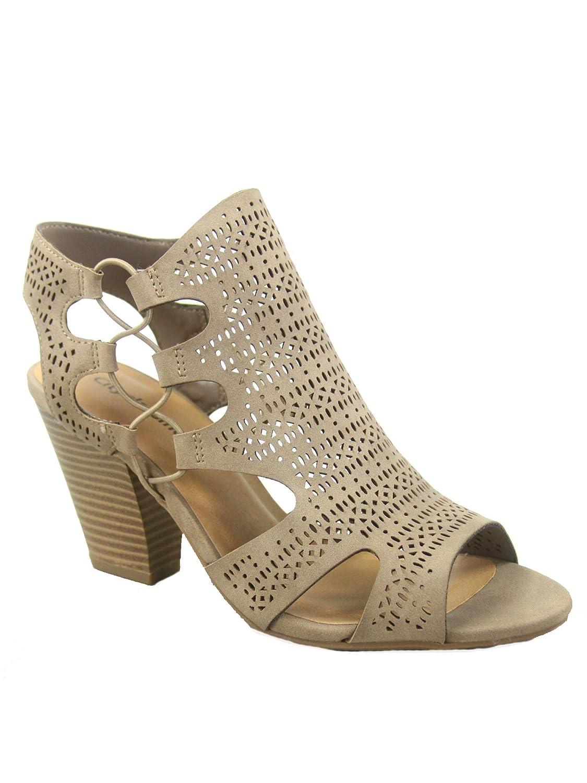 Light Taupe City Classified Zuka-s Women's Fashion Summer Sexy Open Toe Chunky Heel Sandals shoes
