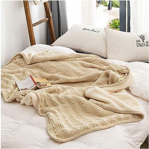 100% manta de algodón Rey cama Blanket Frazada de lana mullida ...